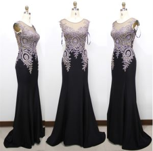 D1182 Embroidery Rhinestone Sexy Evening Dresses Mermaid Bridesmaid Dress Formal Party Gowns pictures & photos