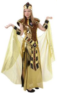 Nefertiti Costume Adult Egyptian Queen Cleopatra Gold Halloween Fancy Dress