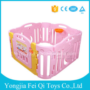 High Quality Plastic Baby Fence Hot Selling Plasic Indoor Baby Playpen With  Game Fence Baby Playpen
