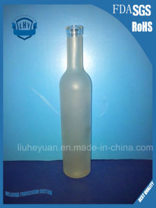 Glass Bottles for Red Wine/Grape Wine with Cork Stopper, Liquor Spirit Glass Bottles 500ml