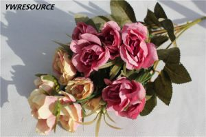 fashion Cheap Artificial Flower Bouquet for Indoor Decoration pictures & photos