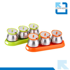 Hot Sale 304 18/8 Stainless Steel Condiment Bottles Spice Jar Set pictures & photos
