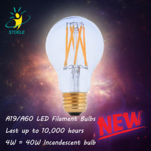 Energy Saving LED Bulb A19/A60 Neodymium Glass LED Filament Bulb