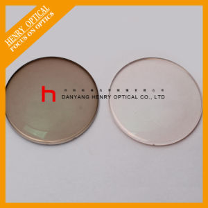 Semi-Finished 1.56 Flat Top Photochromic Brown Optical Lens Hc pictures & photos
