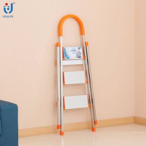 En131 Approved Multi-Purpose Household Folding Stainless Steel Ladder pictures & photos