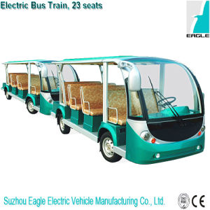 Full Electric Mini Bus Train Four Wheel Trailer Vehicle for Sightseeing, Eg6118t pictures & photos