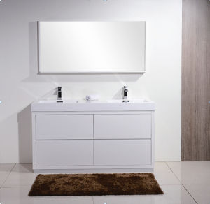 European Modern Painting Bathroom Cabinet (with mirror)