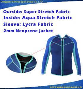 Men 2mm Neoprene Lycra Fabric Jacket Surfing Suit