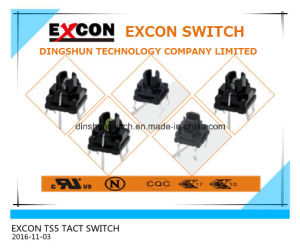 China Switch Manufacture for Ts5 Series Tact Mini Portable Switch with Lamp Anti-Corrosion Switch