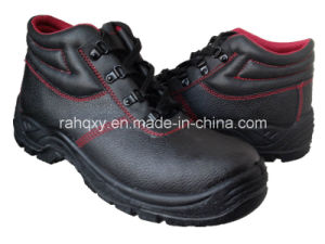 Fur Lining and Red Stitching MID-Cut Safety Shoes (HQ05031) pictures & photos