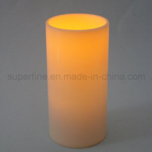 Long Battery Lifetime 4X8 Inch Big Pillar Outdoor Waterproof LED Candle with Timer pictures & photos