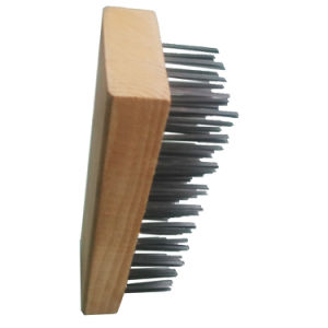 Wooden Handle Abrasive Filament Brush Galvanized Wire Brush pictures & photos