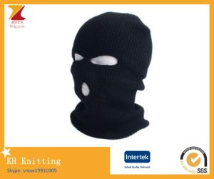 Fashionable Winter Knitted Warm Mask Acrylic Hat