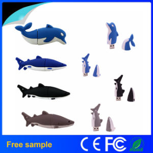 Cheap OEM Shark USB Disk PVC USB Flash Drive