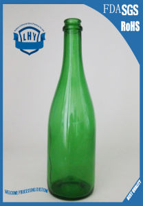 750ml Emerald Champagne Glass Bottle