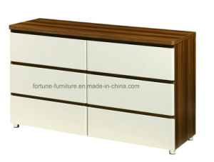 Bedroom Furniture/Modern Wooden Walnut&White Dresser (B1033-A)