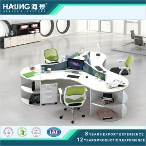 Modern Round Office Workstation/3 Person Workstation/Office Desk Divider