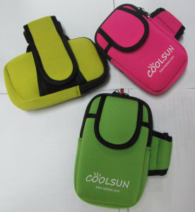 quality design c3a22 6a431 Promotional Neoprene Sports Mobile Phone Arm Pouch