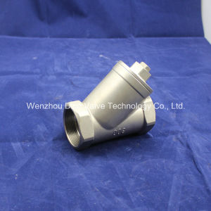 Full Port 12 Mesh Y Strainer Valve with Plug 800wog pictures & photos