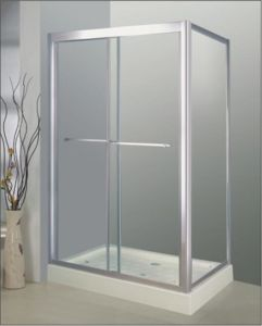 Bathroom 8mm Glass Double Sliding Door with Side Panel (BA6382) pictures & photos