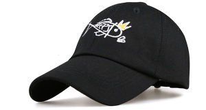 SGS Fish Logo Cotton Embroidery 6 Panels Baseall Caps pictures & photos