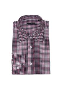 Men′s Check Fashion Shirt 100% Cotton HD0046