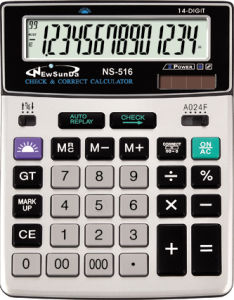 Desktop Calculator with Check & Correct Function (NS-516)
