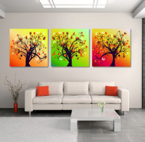 3 Piece Hot Sell Modern Wall Painting Tree Home Decorative Art Picture Painted On