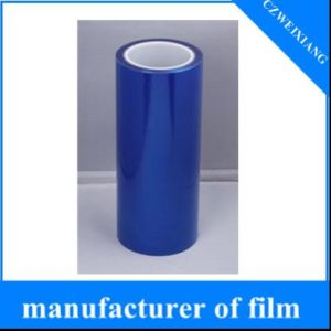 Colored Stretch 0.03mm~0.10mm Thickness Window Clear Surface PE Blue Protective Plastic Film