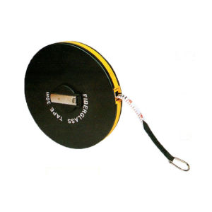 Round Black Case Fiberglass Long Tape Measure (WAB01052)