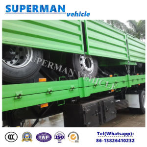 40FT 3 Axle Container Transport Flatbed Trailer pictures & photos