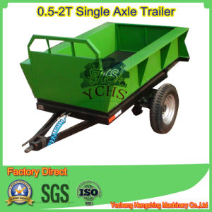 Self Dumping Trailer for Small Tractor 20HP pictures & photos