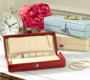 Guangzhou Factory Making Save Space Portable Multifunction Leather Jewelry Box for Travelling