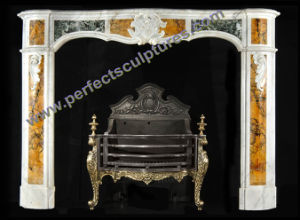 Fireplace Surround with Marble Stone Limestone Sandstone Granite (QY-LS373) pictures & photos