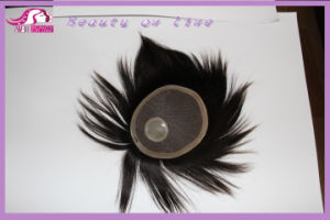 Men′s Hand Tied Hair Piece Toupee pictures & photos