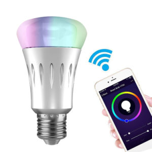 Smart LED Bulb, E27 RGBW LED Bulb, Remote Control Light Bulb Work with  Amazon Alexa/Google Home/APP