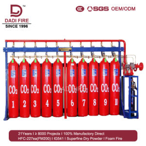 Popular Sale Fire Extinguisher 70-100L High Pressure CO2 Fire-Fighting  System
