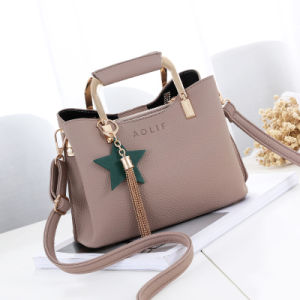2017 New Ladies Fashion Ladies Handbag Korean Fashion Star Tassel Pendant PU Shoulder Bag pictures & photos