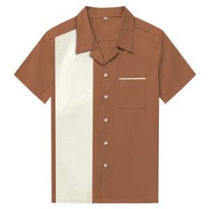 88067e241d8 China Latest Design Men′s Short Sleeve Chest Pocket Brown Cotton ...