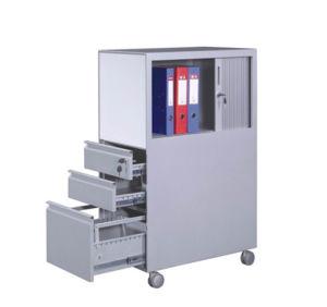 Modern Furniture Steel Roller Shutter Door Cabinets / Metal Tambour Cabinets  / Steel Cupboard