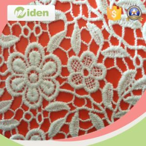Fashion Grid Pattern Chemical Lace Fabric Cotton Guipure Lace Fabric pictures & photos
