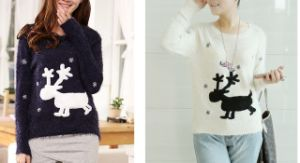 Fashion Women′s Long-Sleeved Pullover Sweater (BTQ066) pictures & photos