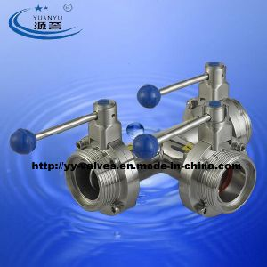 Sanitary Thread Butterfly Valve (T Type) pictures & photos