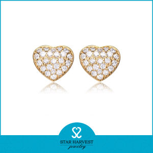 Micro Paved Stud Gold Earrings Designs For S