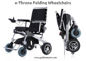 E--Throne8′′, 10′′, 12′′ Folding Power Electric Wheelchair with Li-on Battery pictures & photos