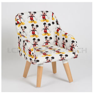 North European Style Beech Wood Children Chair Fabric Upholstery