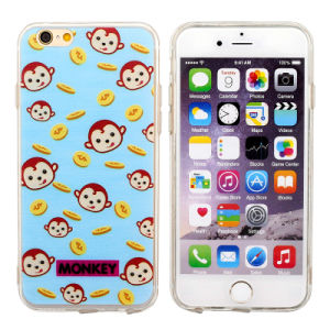 Little Monkey Dirt-Resistant TPU Phone Case for iPhone 5/5/6plus