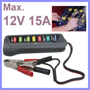12V Digital Battery / Alternator Tester with 6-LED Lights Display Car Vehicle Battery Diagnostic Tool pictures & photos