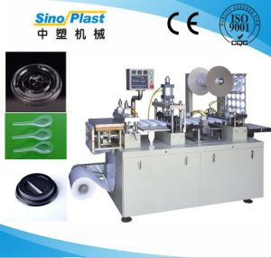 Automatic Servomotor Controlled Plastic Lid Thermoforming Machine
