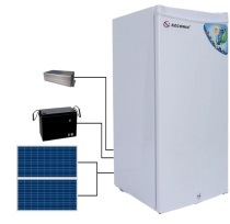 Solar DC Fridge and Freezer in China with Solar Panel and Battery pictures & photos
